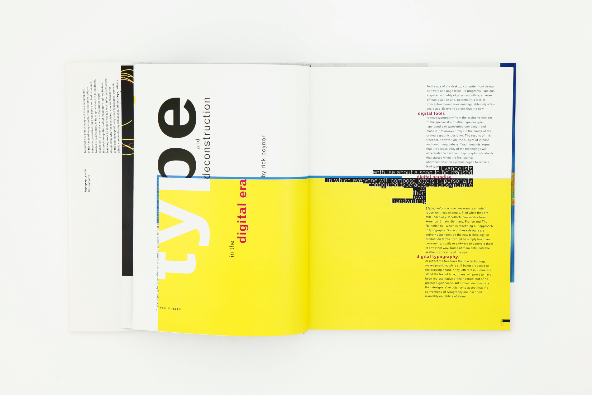 Typographic Book Cover Zone : Typography now why not associates